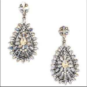 Jewelry - Grey Glass Bead Earrings